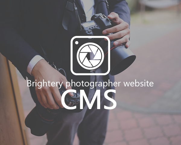 Brightery Photography website CMS