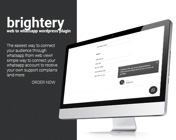 Brightery Web to whatsapp wordpress plugin