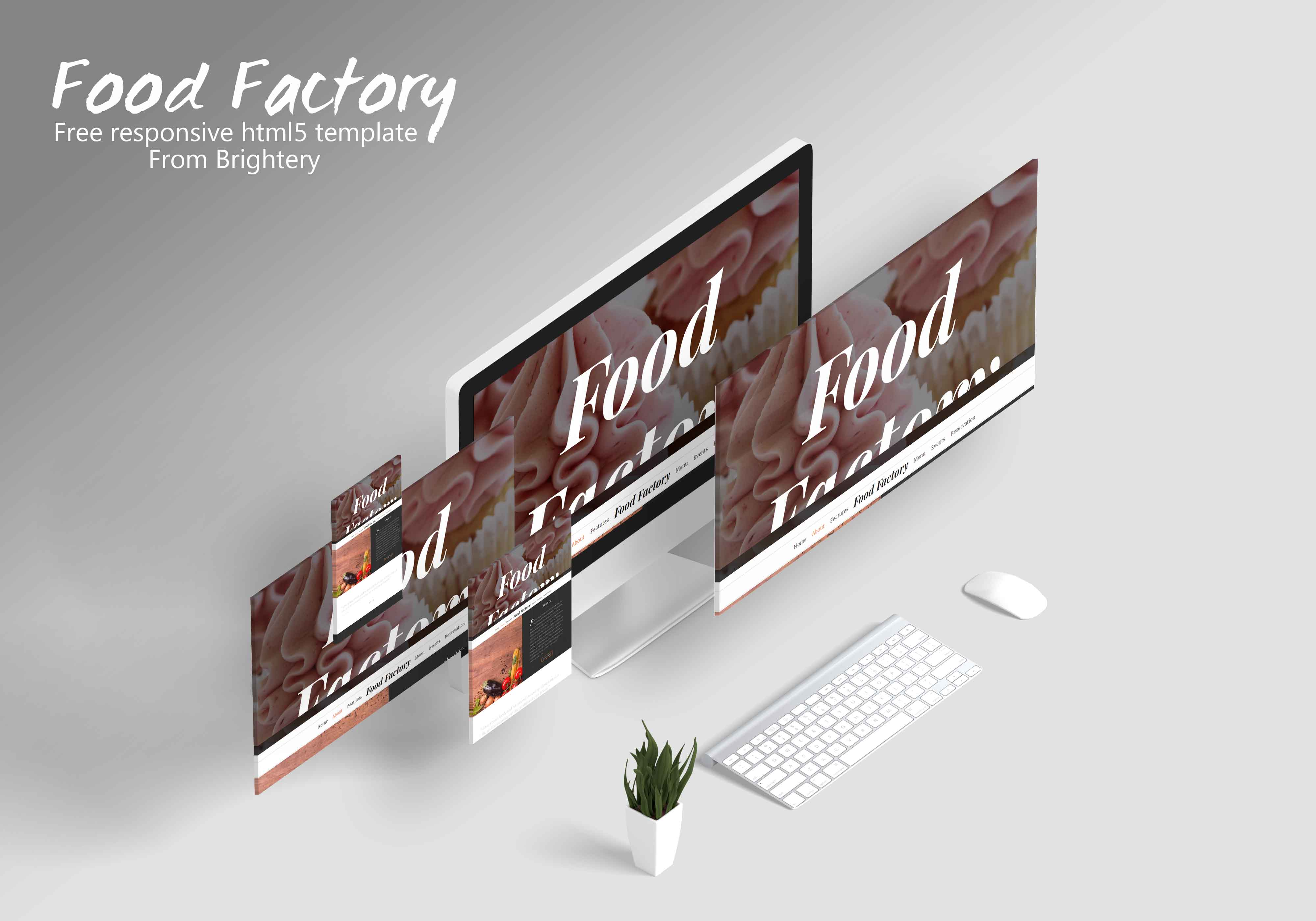 Food Factory - Free HTML5 template