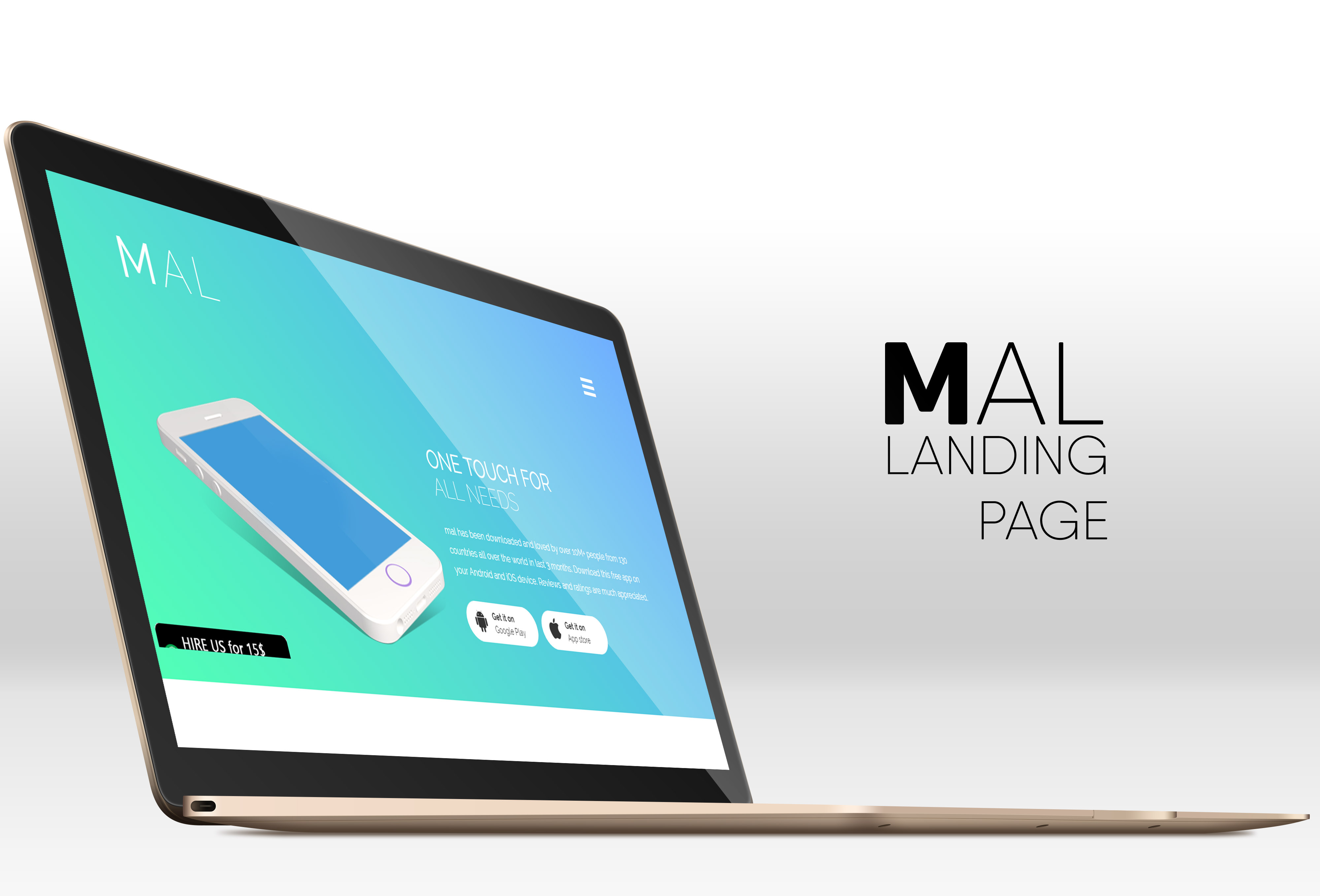 Mobile Application Landing page - Free HTML5 template