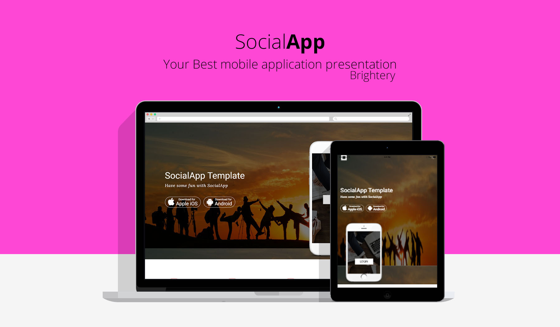 SocialApp - Free HTML5 template