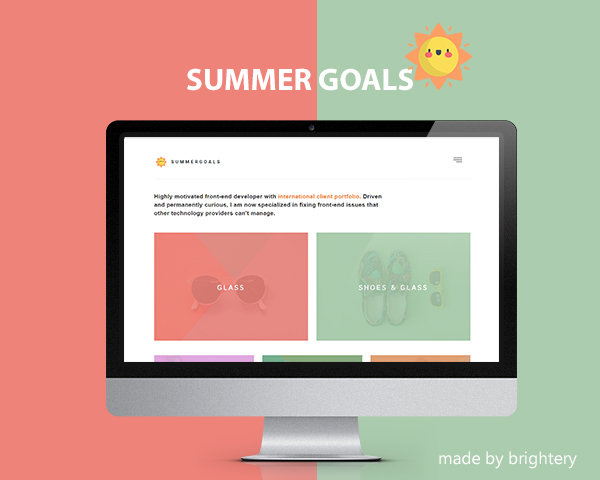 Summer Goals- Free HTML5 template