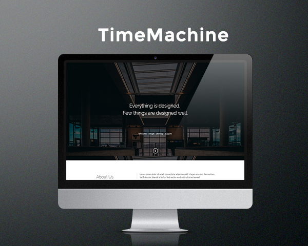 Time Machine - Free HTML5 template